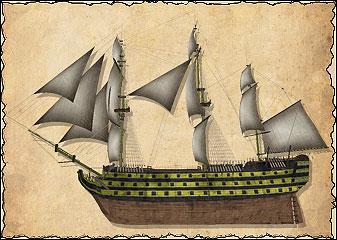Тяжёлые линейные корабли, крупнейшие военные корабли своего времени, были настоящими монстрами морских сражений. На трёх палубах располагается до 90 тяжёлых пушек (на лёгком линейном корабле их около 50). Линейный корабль способен разметать вражеские корабли, ведя огонь лишь с одного борта, но наиболее эффективны эти корабли в линейном строю. Ни один корабль не выдержит продолжительный обстрел нескольких таких кораблей, идущих в линейном порядке. Линейные корабли могут брать на борт большое число морских пехотинцев, что делает их идеальным средством абордажа или нападения на порт. Обратная сторона их мощи — низкая манёвренность и высокая стоимость.