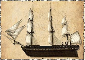 Фрегаты — крупные военные корабли, предназначенные для выполнения самых разных задач. Они могут противостоять любому врагу за исключением линейного корабля. Отличная ходкость делает фрегат хорошим кораблём сопровождения. Фрегаты подходят для одиночного (или в паре) патрулирования морских территорий, для охоты за пиратами или для блокады вражеских портов. Ост-индское торговое судно