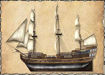 Ост-индские торговые суда были сконструированы специально для длительных и тяжёлых морских походов в Индию. Это самый большой тип торгового судна, но он может за себя постоять: эти корабли вооружены тяжёлыми пушками и обладают серьёзной огневой мощью. Нередко их даже красили, как военные корабли. По сути, среди всех торговых судов они наиболее приближены к военным кораблям.