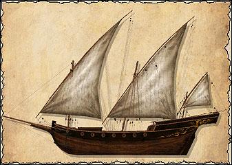 Грациозная шебека с её узнаваемым силуэтом — надёжное многоцелевое судно. Шебека обычно меньше фрегата и не так тяжело вооружена. Это судно очень популярно у средиземноморских корсаров: хорошая ходкость и манёвренность позволяют ей легко догонять более медленную добычу. Шебека неплохо подходит и для роли торгового судна