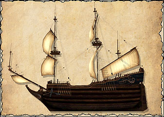 Флейт — нидерландское парусное судно. Поначалу флейты активно использовала лишь Голландская Ост-Индская компания, но со временем они появились во флотах других компаний. Флейт — очень надёжное судно, легко переносящее длительные морские переходы. На борту флейта имеются средние пушки, но он не может состязаться в огневой мощи с военными кораблям. Сражений ему следует избегать