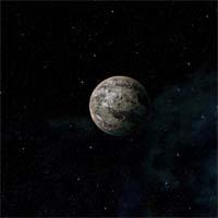 При размере, близком к размеру Земли, масса Ацерии на 72% меньше. Разряженная атмосфера состоит из неона и молекулярного азота, а некогда имевшийся углекислый газ замерз и выпал на поверхность в виде льда.