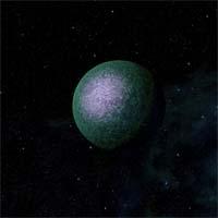 Аганью - огромная каменная планета с тонкой атмосферой из водорода и окиси углерода. Разведывательные зонды с Эринле обнаружили в коре Аганью большие запасы меди и платины, но их добыча обошлась бы слишком дорого из-за сильной гравитации (более 5д), поэтому планета по-прежнему остается малоисследованной.