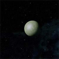 """Атахиль - типичная венерианская """"теплица"""", примечательная лишь несколькими кратерами. Следы орбитальных бомбардировок хорошо различимы, хотя их частично сравняла плотная атмосфера."""