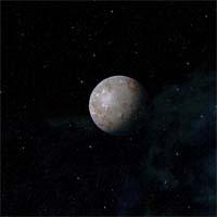 Если бы Биндур находился ближе к Сарабарику, у него была бы атмосфера из углекислого газа и этана, но в холоде окраин звездной системы все газы осели на поверхности.