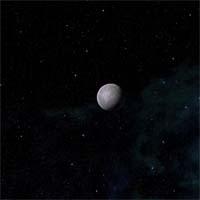 Франклин - большой спутник. На нем есть зачатки атмосферы, состоящей из двуокиси углерода, но на пустынной поверхности нет и следа ни воды, ни какой-либо жизни. Для защиты Уотсона Альянс разместил на Франклине два космопорта и военные базы, каждая из которых рассчитана на шесть взводов истребителей и определенное количество межпланетных баллистических ракет. Приемлемый уровень гравитации поддерживается полями эффекта массы.