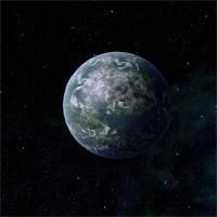 Планета с умеренным климатом и благоприятными условиями для зарождения жизни на углеродной основе.