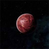 """Негостеприимный Калестон - самый большой спутник газового гиганта Цернунна. Древний астероид, врезавшись в мантию, состоящую из расплавленной серы, образовал огромные запасы нулевого элемента. Развернутая """"Эльдфель-Эшланд Энерджи"""" активность сделала Калестон главным источником топлива для двигателей космолетов в Проходе Аттики."""
