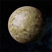 Капек - каменистая и безводная планета, покрытая водородно-этановым туманом, которую жестоко обжигает жар белого солнца. Сера и железо окрашивают поверхность Капека в черный и желтый цвета