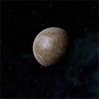 Лета - самая большая из лун Мнемозины, достаточно крупная для того, чтобы удерживать собственную (хотя и тонкую) атмосферу из метана и азота, подогреваемая коричневым карликом до умеренной температуры.