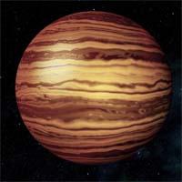 Мнемозина - коричневый карлик с массой, превышающей массу Юпитера в 37 раз. Карлик достаточно молод, внутри еще протекают ядерные реакции. Он светится и выделяет больше тепла, чем получает от своей звезды - Торн. Атмосфера Мнемозины имеет температуру выше 1800 градусов по Кельвину (1500 по Цельсию).