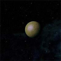 """Благодаря гравитационной связи со звездой Зеленой, у Непимы имеется """"полюс холода"""" и """"полюс жары""""."""