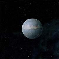 """Нейдус находится опасно близко к красному карлику Кризерой, благодаря чему на его поверхности удерживается температура, делающая возможным развитие жизни (чуть выше точки замерзания у терминатора, существенно ниже - на темной стороне). Из-за гравитационной связи со звездой на Нейдусе здесь есть """"полюс тепла"""" и """"полюс холода"""""""