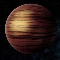 Орунмила, газовый гигант среднего размера, находится очень близко к своей звезде, поэтому при смене дня и ночи температура на его поверхности меняется очень значительно.