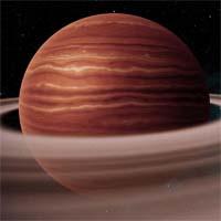 Синеус - стандартный водородно-гелиевый газовый гигант. На его орбите находится более 80 лун.