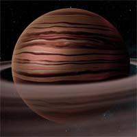 Таропто - типичный газовый гигант, в атмосфере которого обнаружены следы хлора и серы. У него более 100 спутников и широкая система колец, состоящих из каменной пыли, - предположительно, это останки раздробленных спутников