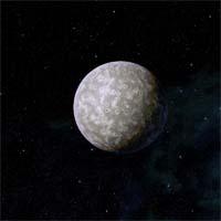 Тенузи - крошечная бесплодная скала. Когда-то у нее была атмосфера из двуокиси углерода, но сейчас остались только следы криптона и ксенона. Подобно Сиано, она гравитационно связана с Дирадой.