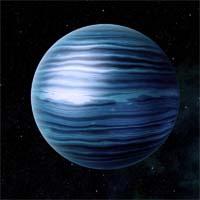 Триодия - среднего размера газовый гигант с ледяным ядром. Водородно-метановая атмосфера придает ему голубоватый оттенок. Триодия обладает четырнадцатью спутниками, названными в честь добродетелей азари