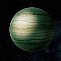 Заправочные станции у водородно-гелиевого газового гиганта Тривальди поставляют гелий-3 на торговые космолеты, заходящие в систему. В кольцах планеты находится девять зарегистрированных спутников и множество мелких небесных тел.