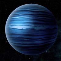 Йонус, метано-аммиачный ледяной гигант, используется в качестве топливного склада в скоплении Пилоса.
