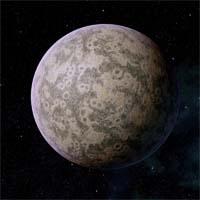 """Занету относят к планетам класса """"мертвый сад"""". В его осадочных породах обнаружены большие запасы карбоната кальция, что указывает на возможность тектонической активности в прошлом и даже существования растительной жизни. Вероятно, облака пыли и снежные массы появились относительно недавно, приведя к снижению солнечного потока и вымиранию растительности. Гравитация у поверхности и температура вполне пригодны для большинства разумных видов"""