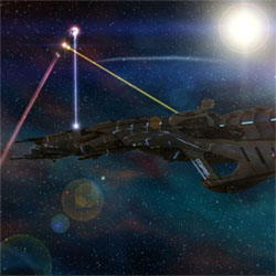 Nexus: The Jupiter Incident. Fight with gunboats.