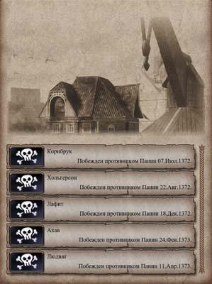 Побежденные пираты в таверне
