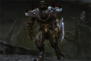 Особый вид существ, использует броню, из оружия меч. Крупный, неповоротливый, его можно достаточно спокойно уничтожить режущим оружием, используйте ландшафт, ловкость.