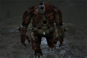 У данного существа голова отсутствует, имеется нарост на правом плече заменяющий голову. Вследствие недостатка его можно убить просто, хотя и если вы напоритесь на троих таких существ на ровном месте, могу с уверенностью сказать, что будет сложно.
